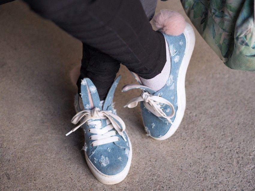 street style Minna Parikka bunny sneakers/shoes